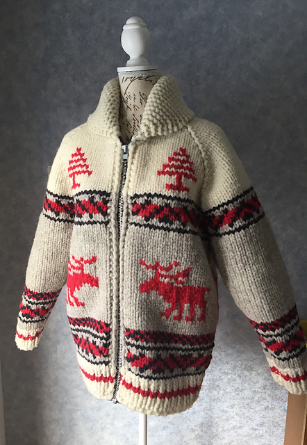 veste tricotée Rocky Mountain Moose par Darling Deviance