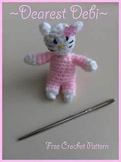 1e0acd0cecf Ravelry  Mini Hello Kitty Amigurumi Pattern pattern by Debi Dearest