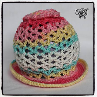 8b1c9966ed7 Ravelry  3D Sun Flower Hat Newborn pattern by Debi Dearest