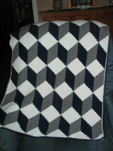 Ravelry Tumbling Blocks Pattern By Lois Miller