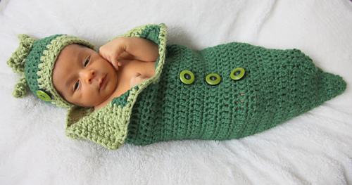 Ravelry Baby Cocoon And Hat Set Pea In A Pod Pattern By
