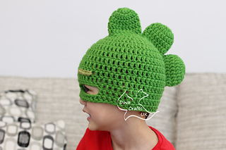Ravelry  Gekko Mask Hat (PJ Masks) pattern by Dove Crafts UK d3652229a5b