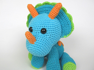 Triceratops Tripi Dinosaur Amigurumi Pattern By Veronika Ravelry
