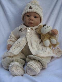 854748ccb47b Ravelry  3. Baby Boy s Matinee Set pattern by Lynne Christie