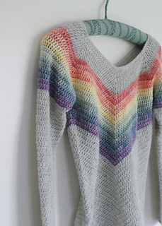 Ravelry Rainbow Smiles Sweater Pattern By Dora Does