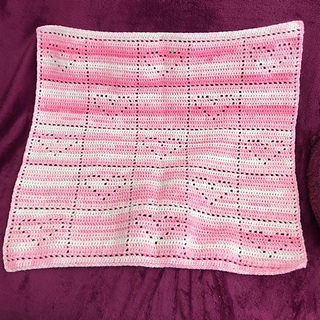 Happy Hearts Blanket pattern by D Maunz