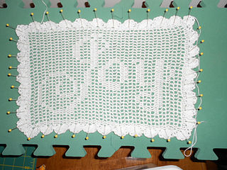 Free Filet Crochet Pillow Patterns : Ravelry: Joy Filet Crochet Pillow pattern by Sue Childress