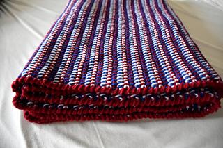 Americana Tunisian Crochet Afghan Pattern By Dragonfly Ravelry