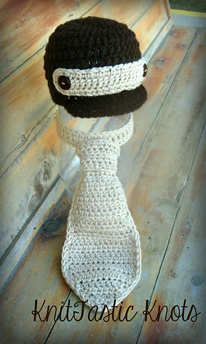 Ravelry Newborn Necktie And Newsboy Hat Pattern By Knittastic Knots