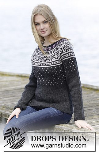 Ravelry 166 23 Starry Night Pullover Pattern By Drops Design
