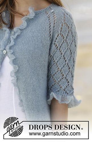 Ravelry 175 29 Seaside Dream Cardigan Pattern By Drops Design
