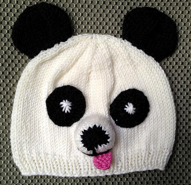 Ravelry Panda Hat Newborn To Child Sizes Pattern By Donna Sires