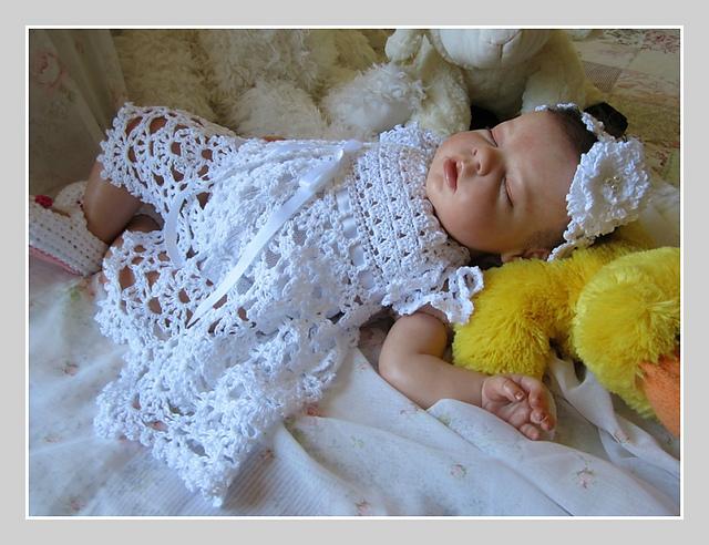 Ravelry Cielo Baby Dress And Headband Pattern By Betty Fay Wallace