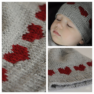 Ravelry  Heart Hat for Baby pattern by Eba Design 480d465ac41