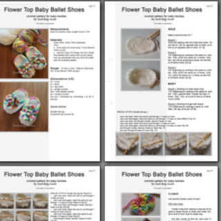 8148c50770584 Ravelry: Baby Booties Flower Ballet Shoes pattern by Earth Baby Crochet