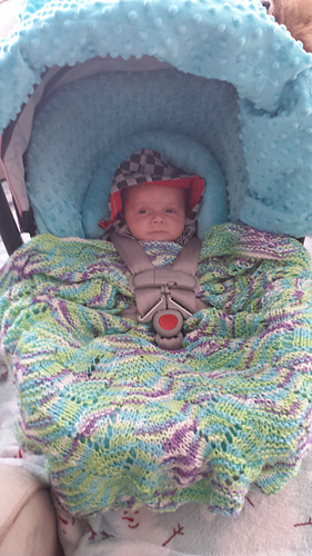 Ravelry Car Seat Blankie 99558 Pattern By Mary Maxim