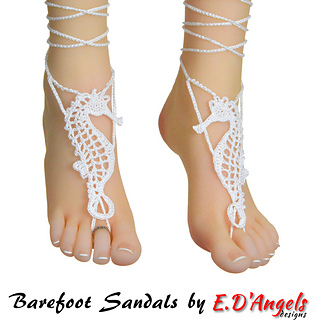 Ravelry Barefoot Sandals Seahorse Pattern By Elaine D Angels