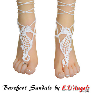 Ravelry Barefoot Sandals Seahorse Pattern By Elaine Dangels