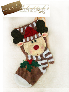 Ravelry: Reindeer Christmas Stocking pattern by Ilse Hoekstra