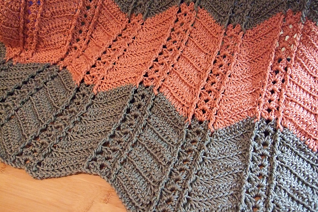 Ravelry: Shell and Post Stitch Ripple Afghan pattern by Heather Tucker