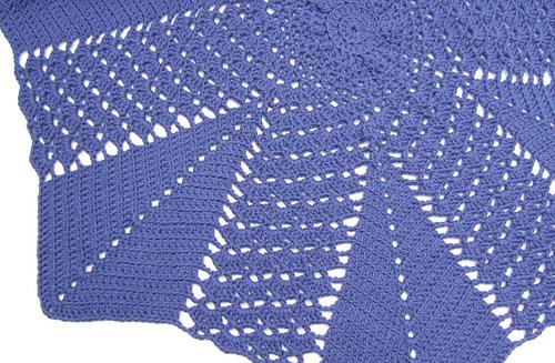 Ravelry Shell And V Stitch Round Ripple Blanket Pattern