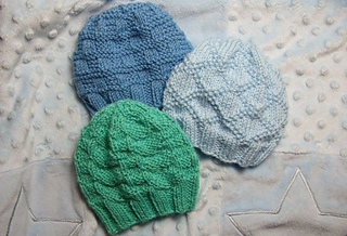 aaab048c681 Ravelry  Textured Baby Hats for Straight Needles pattern by Heather ...