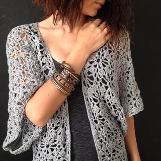 Ravelry Boho Kimono Robe Pattern By Linda Skuja