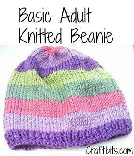 Ravelry Basic Adults Knitted Beanie Pattern By Shellie Wilson