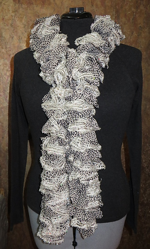 Ravelry Entity60s Machine Knitted Sashay Ruffled Scarf