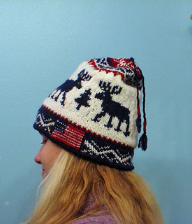 Ravelry  Team USA Reindeer Hat pattern by Helena Bristow 1d1682a6727