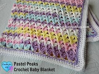 Ravelry Pastel Peaks Baby Blanket Pattern By Erangi Udeshika