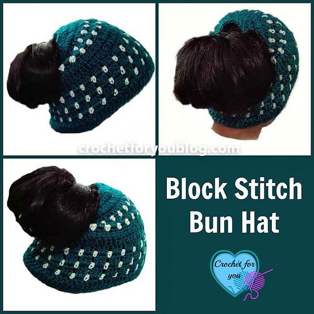 c3c262595dc Ravelry  Block Stitch Bun Hat pattern by Erangi Udeshika