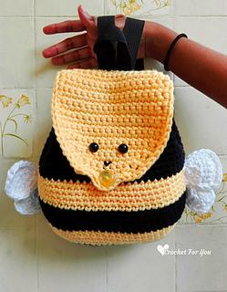 e981990b460 Ravelry  Bumble Bee Backpack pattern by Erangi Udeshika