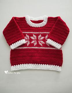 Ravelry Winter Snowflake Baby Sweater Pattern By Erangi Udeshika
