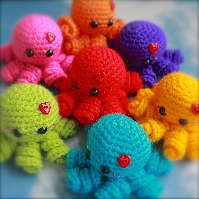 Ravelry Mini Amigurumi Octopus Pattern By Sarah Hearn New Octopus Crochet Pattern