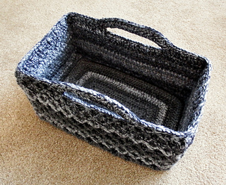 Ravelry Rectangular Diamond Trellis Basket Pattern By