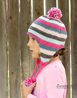 01837682a52 Ravelry  Children s Knit Ear Flap Hat pattern by Everyday Art