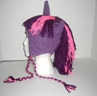 39cb29ae2ba Ravelry  Pastel Pony Hat pattern by Shirley of Faery Design