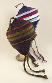 Striped Earflap Hat PDF