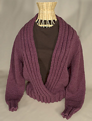 Ribbed Shawl Collar Sweater PDF