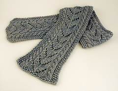 Aran Cable and Lace Scarf PDF