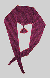 Checkerboard Triangular Scarf PDF