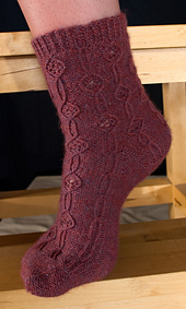 Twist and Lace Socks PDF