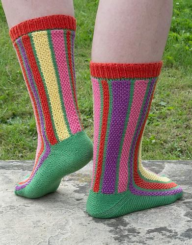 Tulip Field Socks PDF