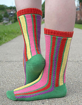 Tulip Field Socks PDF