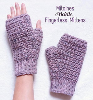 Ravelry Mitaines Violette Fingerless Mittens Pattern By Fibre And Folk