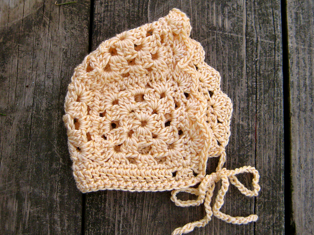 Ravelry Granny Square Baby Bonnet Pattern By Erica Jackofsky