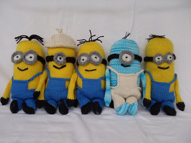 Indie Design Gift Along 2018 Toys knit Minions