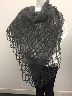 Ravelry Lizzie Grey Shawl Pattern By Filatura Di Crosa
