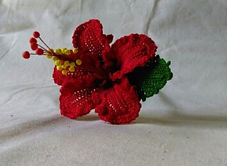 Ravelry Chevron Red Hibiscus Pattern By Leticia Lebron